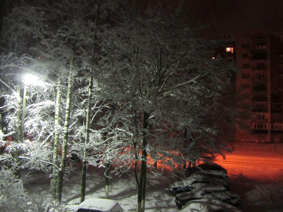 Зима. Город спит.