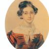 П. Соколов.Портрет А.А.Олениной. Ок. 1825