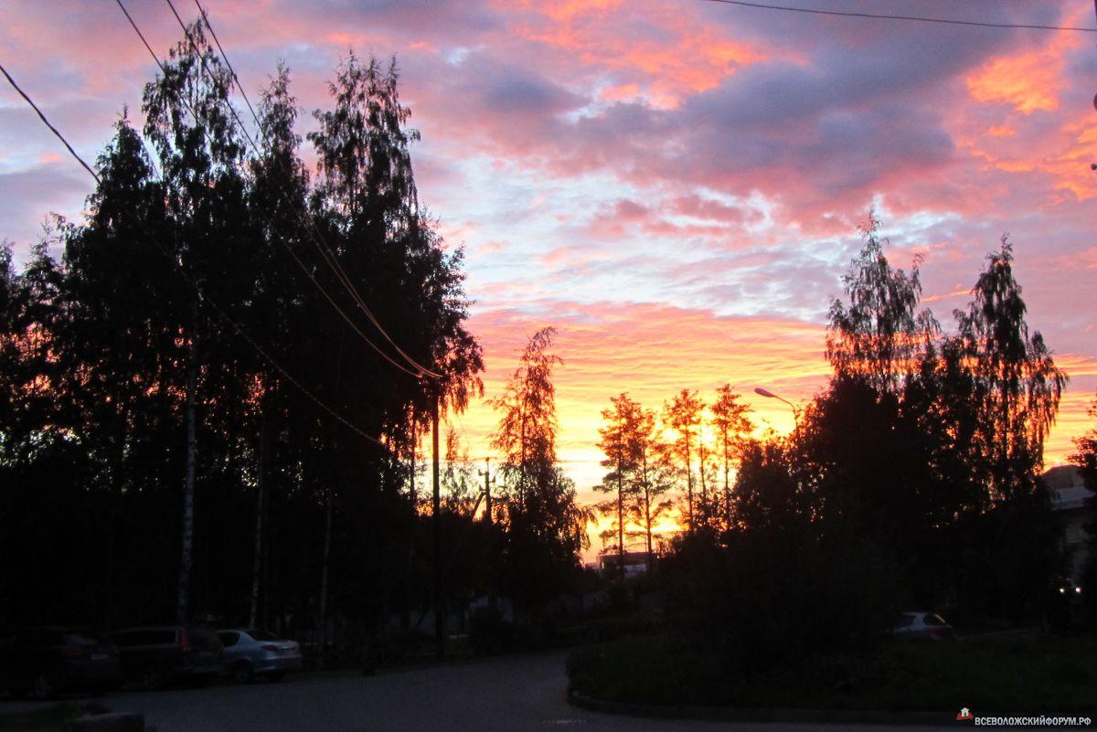 Закат во Всеволожске